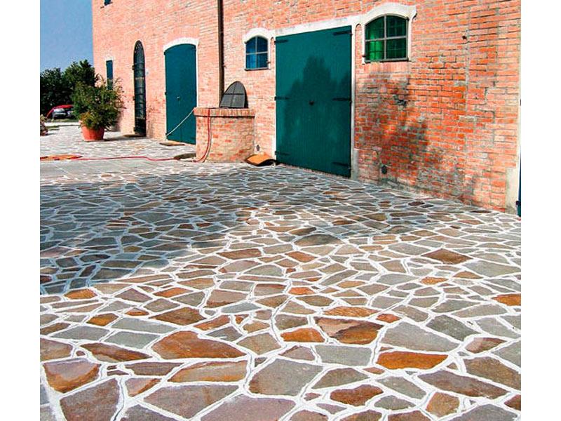 Casa moderna roma italy pavimenti porfido per esterni for Pavimento esterno effetto pietra